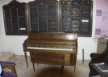 Donated piano
