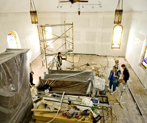 Sancturary during restoration