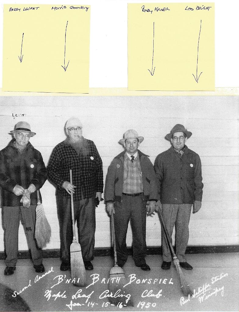 Bnai Brith Bonspiel Maple Leaf  1950 Curling Club
