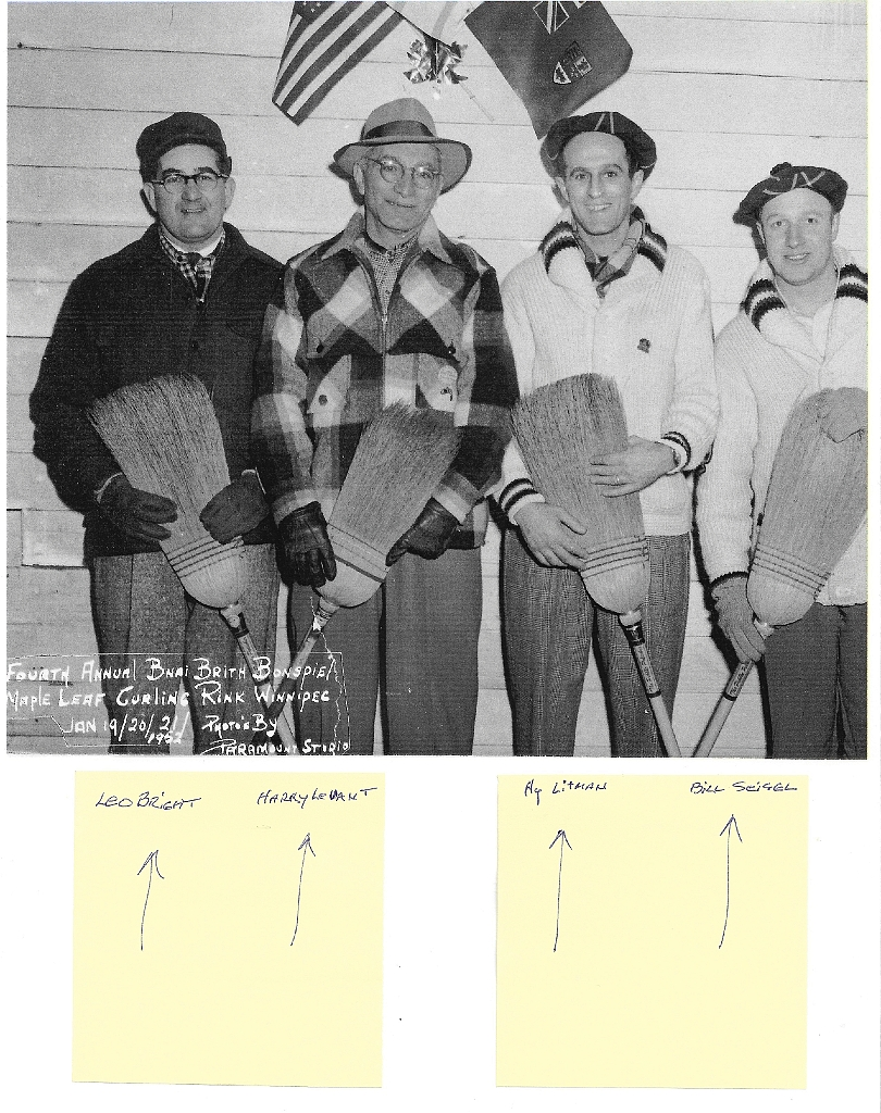 Bnai Brith Bonspiel Maple Leaf Curling Club 1952