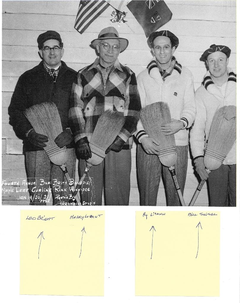 Bnai Brith Bonspiel Maple Leaf Curling Club 1952