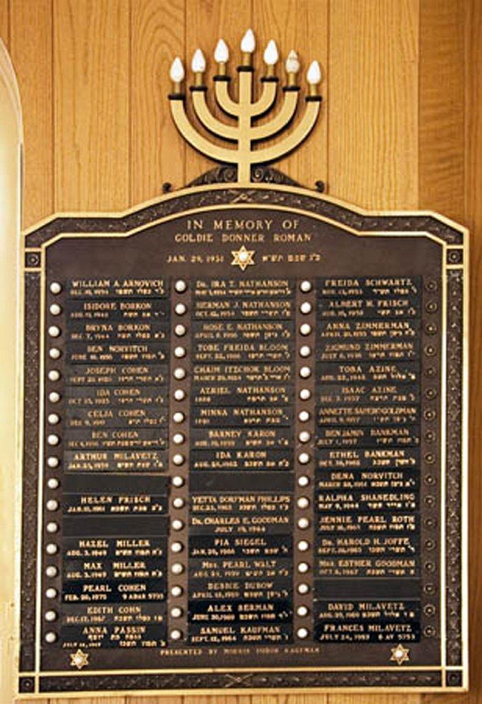 Memorial Plaque 2006