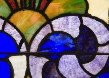 Detail stained glass window