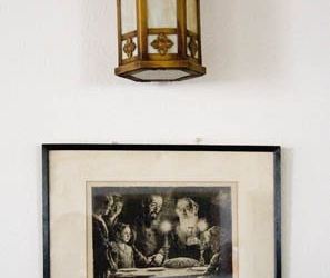 Lamp and Charcoal drawing