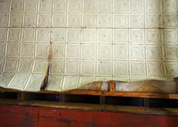 Original tin ceiling